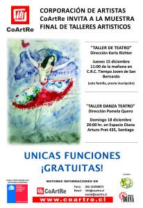 afiche muestra de talleres